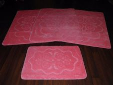 ROMANY WASHABLES NEW FOR 2017 SUPER THICK NEW DESIGN 4PCS SET BABY PINK NON SLIP